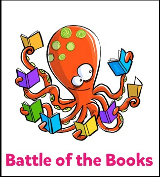 Octopus reading eight books