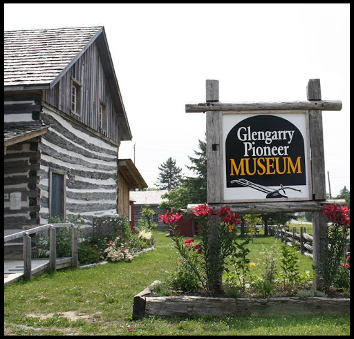 Sign outside of Glengarry Pioneer Museum