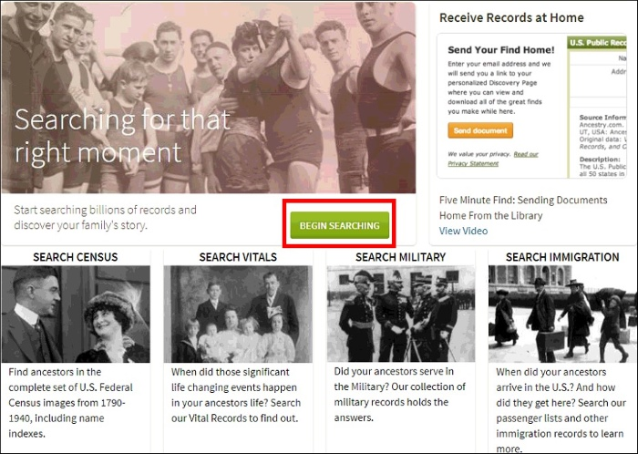 Ancestry Library Edition   SDG Library